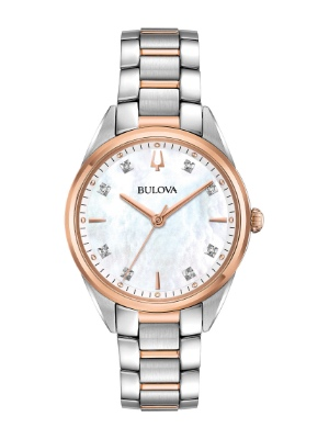 Bulova sutton 98p183 bicolore madreperla e diamanti