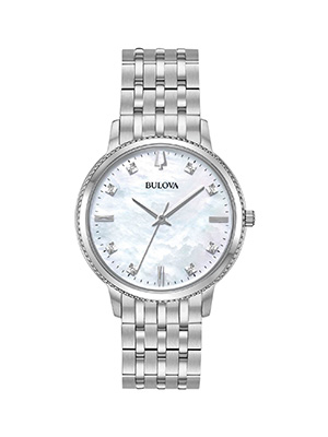 orologio donna bulova classic diamond madreperla