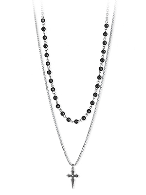 collana 2jewels croce due fili