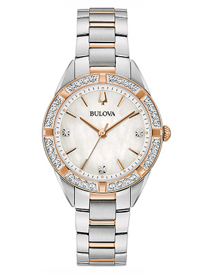 orologio da donna bulova sutton bicolore madreperla e diamanti