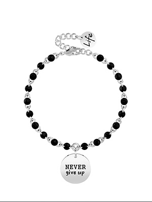 bracciale kidult never give up a catena