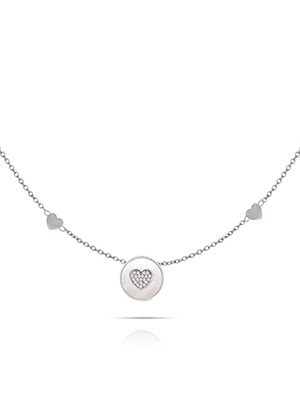 collana pearl coin cuore di opsobjects